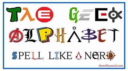 Alphabet Geek Nerd Spell Geeky