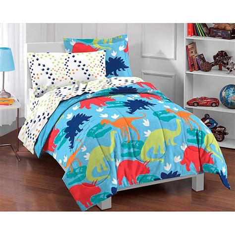 boys dinosaur bedding sets dream factory dinosaur prints 5 piece twin size bed in a bag with sheet set free shipping