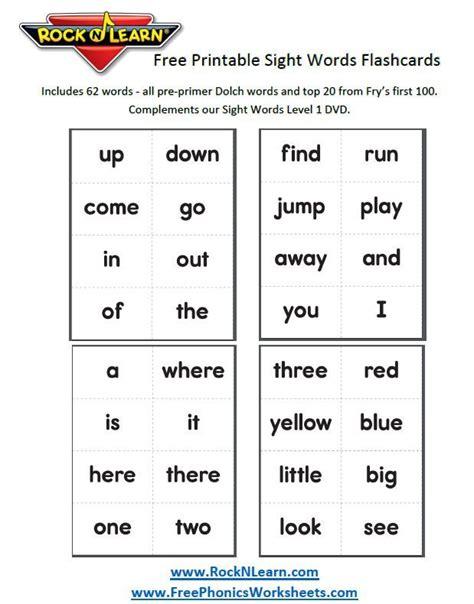 Printable Worksheets » Free Printable Sight Word Worksheets For Kindergarten Printable