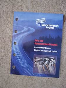 1999 Gm Goodwrench Engine Reference Guide New