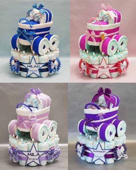 lustige geschenke zur geburt windeltorte windeltorte mit kinderwagen in 5 farben