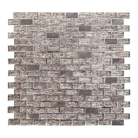 Jeffrey Court Glass Mosaic Tile by Jeffrey Court Prezzano 12 In X 12 In X 8 Mm Glass Mosaic