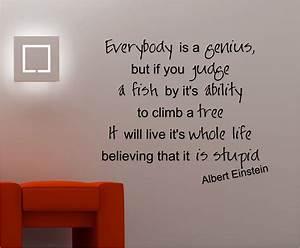 Einstein genius inspirational wall art quote sticker vinyl