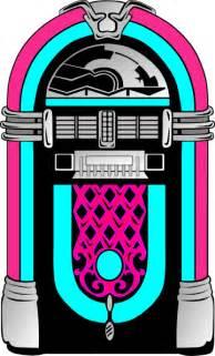 Pink Jukebox Clip Art