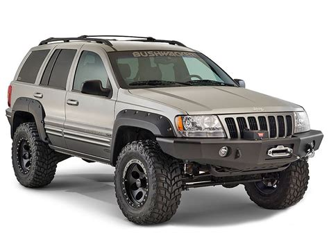 jeep grand wj bushwacker 10926 07 cut out fender flares for 99 04 jeep 174 grand wj quadratec