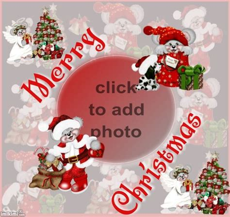 quot merry christmas quot card from imikimi com click to add your photo and share for free free