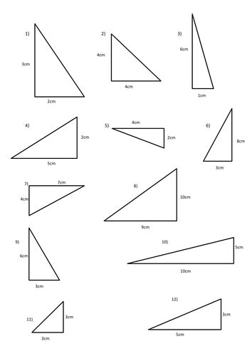Area Of Triangle Handout By Michaelgrange  Teaching Resources