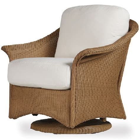 lloyd flanders wicker furniture swivel glider chair