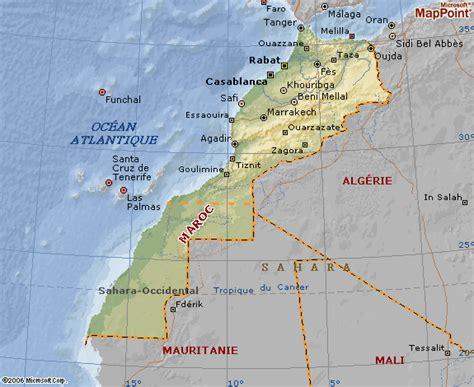 Carte Maroc Avec Villes by Cartograf Fr Le Maroc Carte Avec Le Relief Et Les