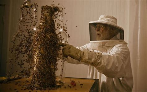amazing sculptures created  bees