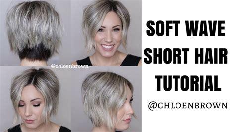 Soft Waves Hair Tutorial || Short Hair