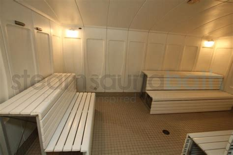 Aluminum Benches In Commercial Steam Room  Photo Gallery