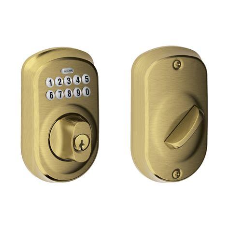 schlage door locks schlage plymouth keyless deadbolt