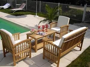 Mobilier Jardin Pas Cher : mobilier jardin teck ensemble table de jardin pas cher ~ Melissatoandfro.com Idées de Décoration
