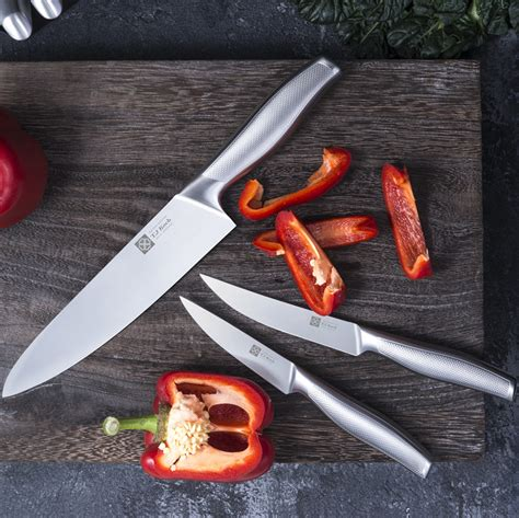 chefs knife sets  piece stainless steel kitchen knives