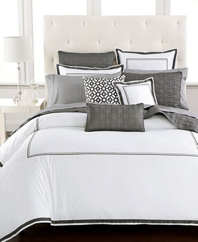 macy s bed comforters hotel collection embroidered frame duvet covers created