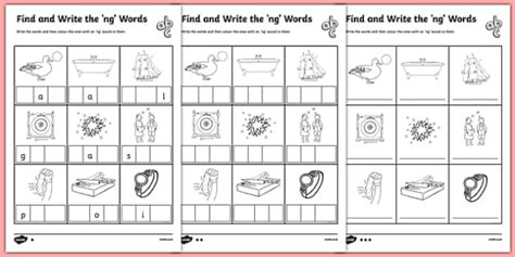 find  write  ng words differentiated worksheet pack