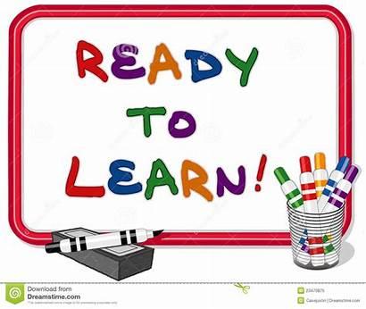 Learning Clipart Ready Learn Whiteboard Leren Clip