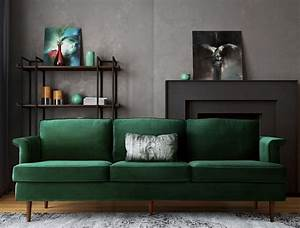 Porter Forest Green Sofa from TOV Coleman Furniture