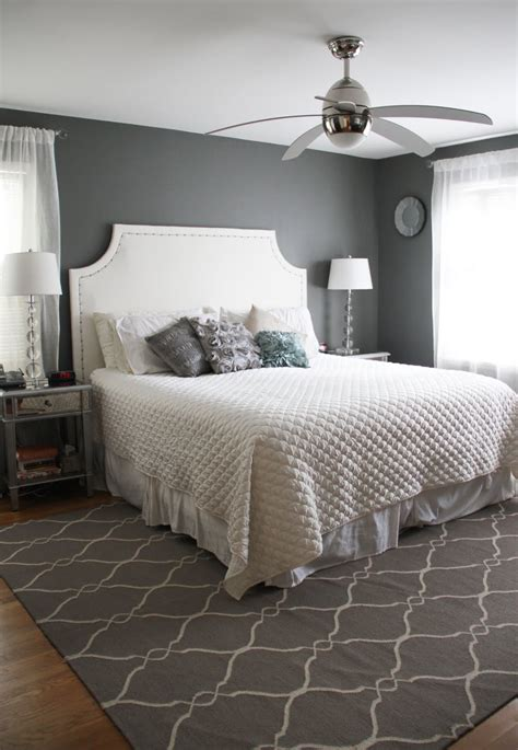 Bedroom Rugs by Engaging Grey Accents Wall Paint For Bedroom With White