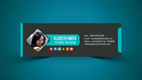 professional email signature design psd photoshop