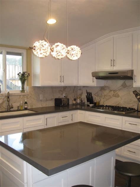 modernly traditional white kitchen contemporary los