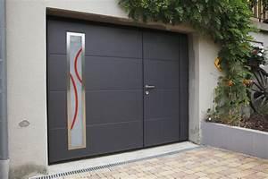 Porte De Garage Motorisée Avec Portillon : porte de garage ecologis experts ~ Dode.kayakingforconservation.com Idées de Décoration