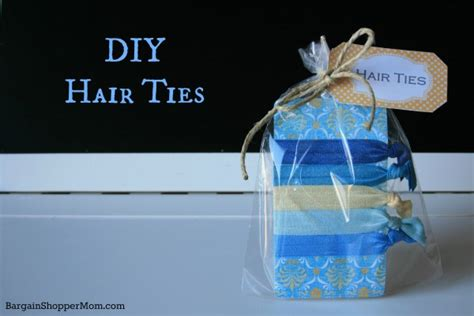 homemade christmas favors for adults diy hair tie tutorial with 3 free printable tags and free