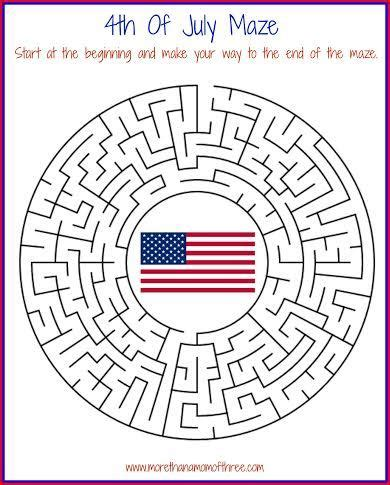 4th of july activity printable worksheets more than a