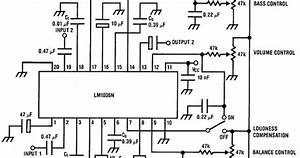 Wiring Schematic Diagram  Lm1036 Stereo Tone Control Circuit