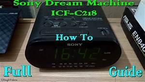 Sony Dream Machine Icf-c218 Guide  1080p