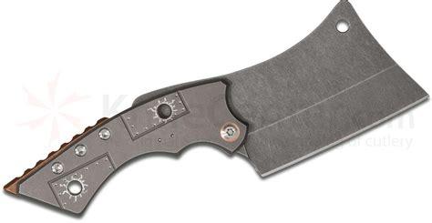 kitchen knives sale sergey rogovets custom cleaver friction folding knife 3