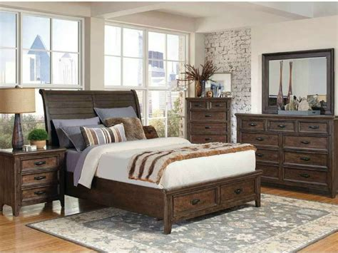 Coaster 205255 Ives Rustic Antique Mink King Bedroom Set