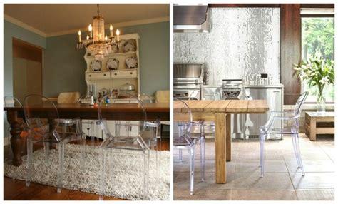 chaises transparentes pour une salle 224 manger contemporaine