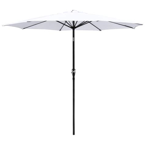 Tilting Patio Umbrella Uk by 2 7m Aluminum Patio Umbrella Sunshade Market Crank Tilt