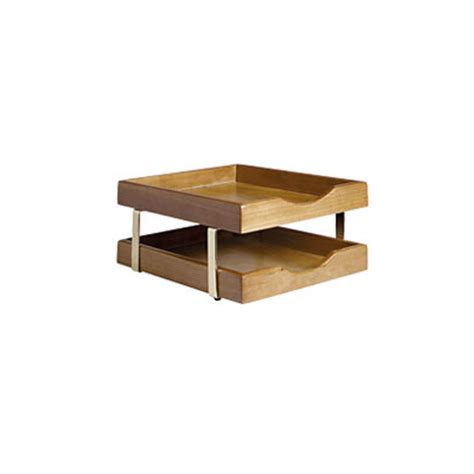 executive desk accessories wood executive wooden 2 tier letter tray officescene