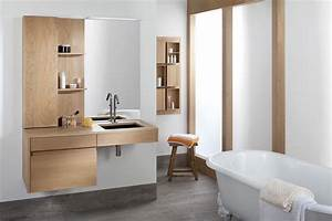 Meuble Salle De Bain Bois Naturel : inspiration une salle de bains en bois inspiration bain ~ Teatrodelosmanantiales.com Idées de Décoration