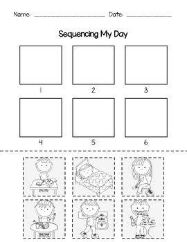 sequencing  day  aprille shields teachers pay teachers