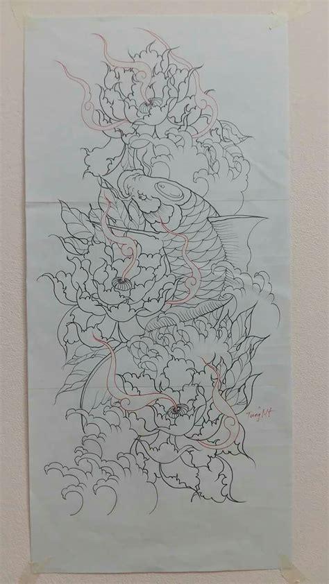 Tiệm xăm hình.hình xăm nghệ thuật dzĩnh tattoo. Bản vẽ hình xăm cá chép | Hình xăm, Nghệ thuật thêu nhật và Hình xăm nhật