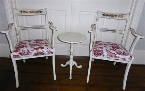 shabby chic armchairs uk annie sloan painted french style shabby chic armchairs toile de juoy upholstery ebay
