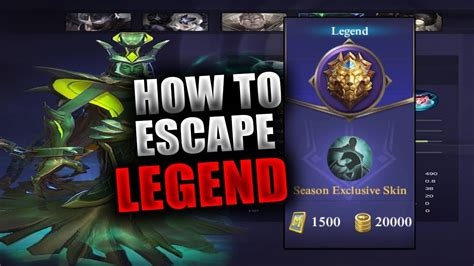 How To Escape Legend !