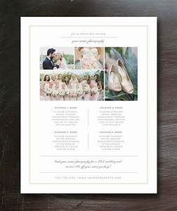 photography price list template flyer templates on With wedding photography packages template