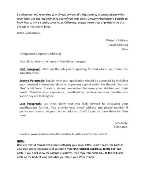 Catchy Title For A Resume by How To Write A Catchy Cover Letter Template Included