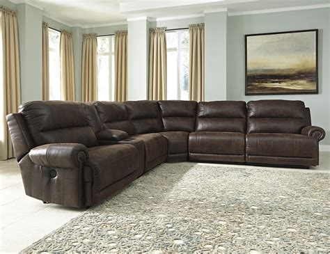 Sectional Sofas Reclining by Signature Design Luttrell 6 Reclining