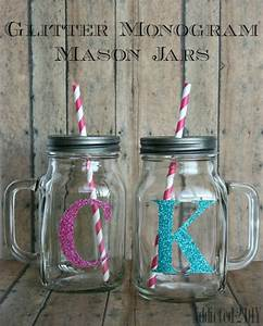 Glitter Monogram Mason Jars - Addicted 2 DIY