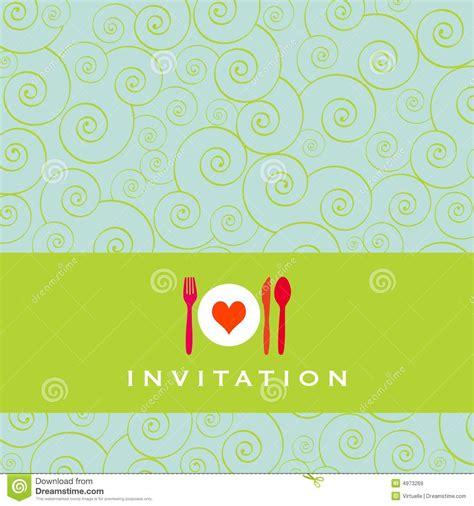de uitnodiging het diner vector illustratie