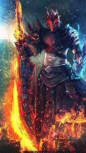 Type X Lights Wallpaper Commander Warrior Sword 4k Creative Graphics