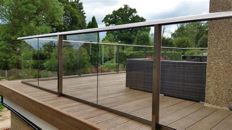 glass balustrade composite decking surrey case study balcony systems deck railing design