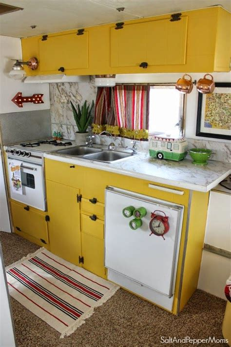 ideas for kitchen cabinets homes on wheels 5 travel trailer makeovers we rv s 4397