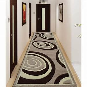 verso tapis de couloir beige marron 80x300 cm achat With tapis de couloir beige